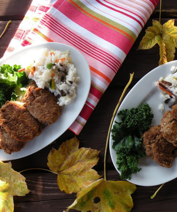 Kotlety wegetariańskie z ciecierzycy i kaszy jaglanej - Dania z ryżu i kaszy
