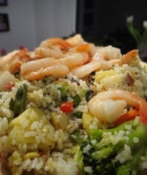 Ryż po katońsku z warzywami i krewetkami - Dania z ryżu i kaszy