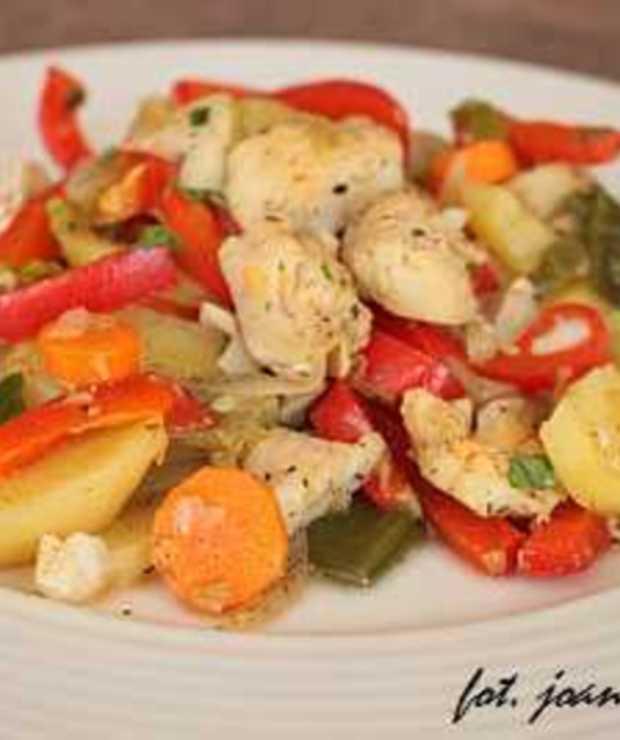 filety z morszczuka w warzywach - Inne