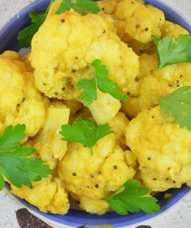 Curry z kalafiora i ciecierzycy - Bezglutenowe
