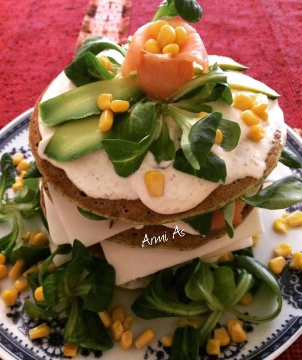 Szpinakowe pancakes - Placki i placuszki