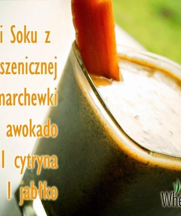 marchew + awokado + cytryna + jabłko + sok z trawy pszenicznej - Zimne