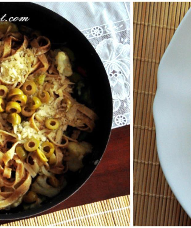 Tagliatelle z warzywami / Tagliatelle with vegetables - Dania z makaronu