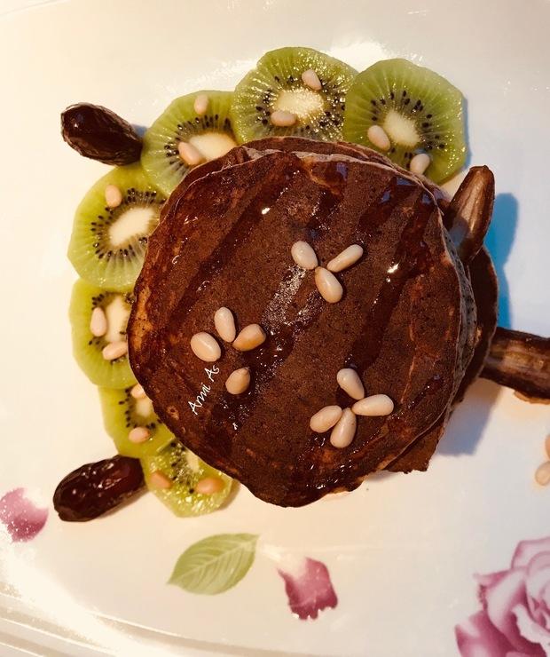 Bananowo-makowe placki a'la pancakes - Placki i placuszki