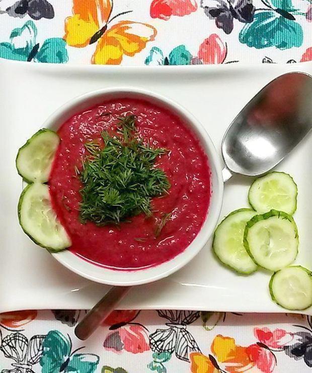 Czerwony chłodnik warzywny – idealny na upały - Chłodniki