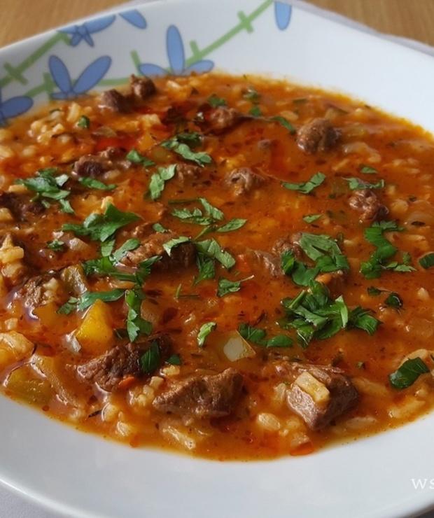 Charczo - zupa gruzińska - Z mięsem