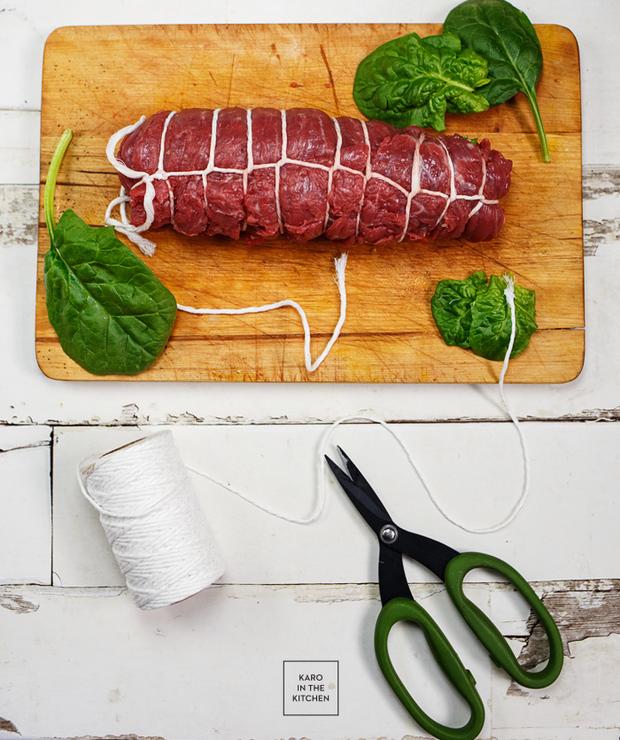 Wyrolowany stek bavette- włoska rolada z łaty wołowej - Wołowina