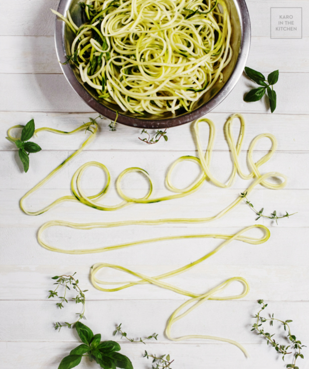 Zoodle alla Alfredo – makaron z cukinii w sosie light - Warzywa