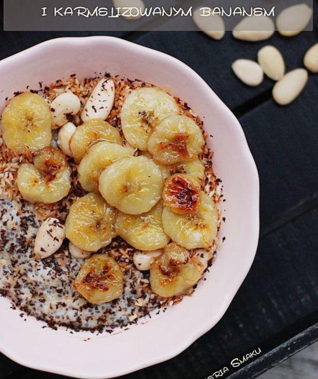 Owsianka z chia i karmelizowanym bananem - Inne