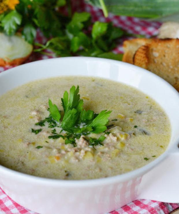 Zupa porowa z mięsem  - Inne