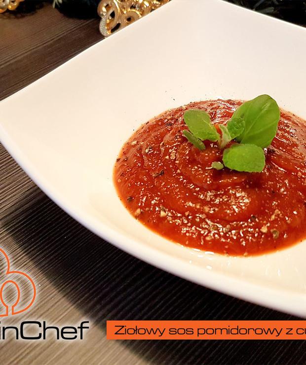 Ziołowy sos pomidorowy z cukinii - Na zimno