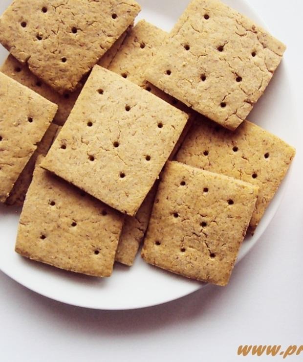Krakersy z mąką kasztanową na proszku do pieczenia ( bez glutenu ) - Bezglutenowe