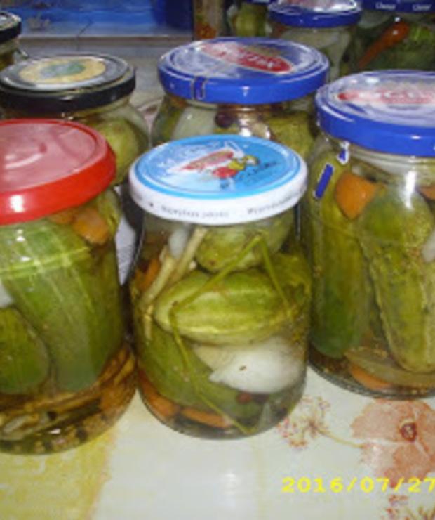Letnie przetwory: Ogórki konserwowe pełne przypraw - Warzywne