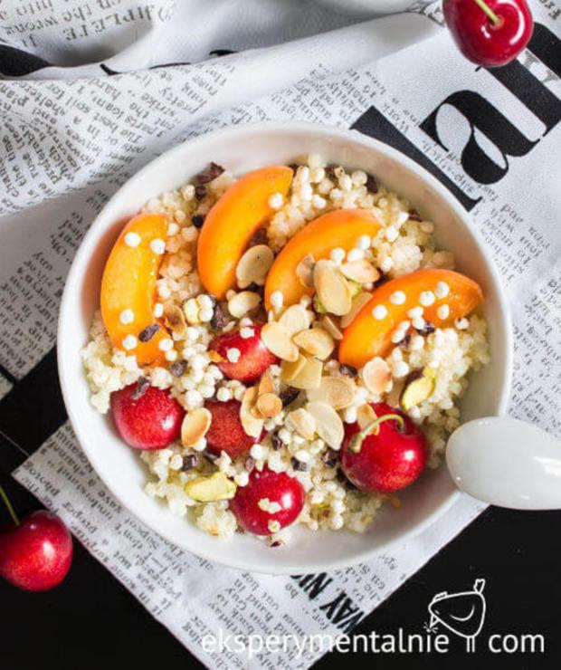 Kasza jaglana na słodko na śniadanie - Musli i podobne