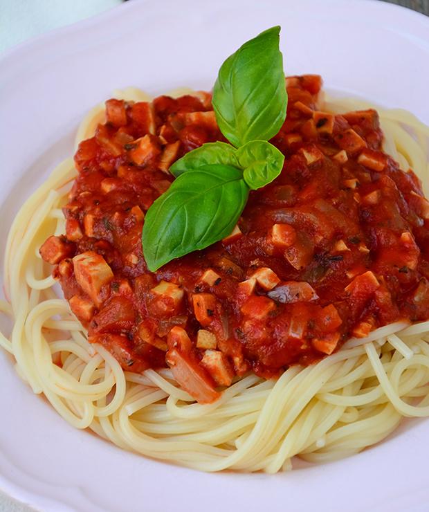 Wegański sos a'la bolognese - Dania z makaronu