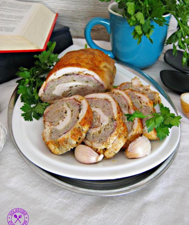 Rolada drobiowo wieprzowa z boczkiem - Wieprzowina