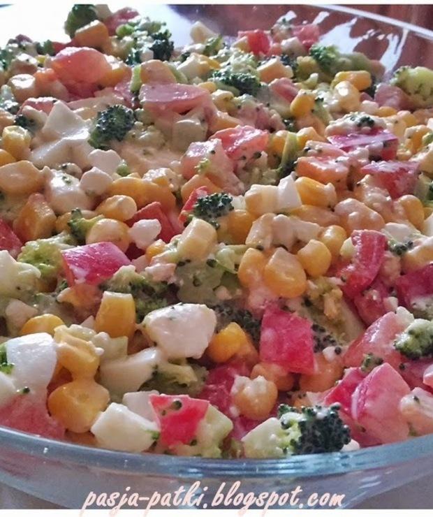 Sałatka z brokułami i serem feta - Jarskie
