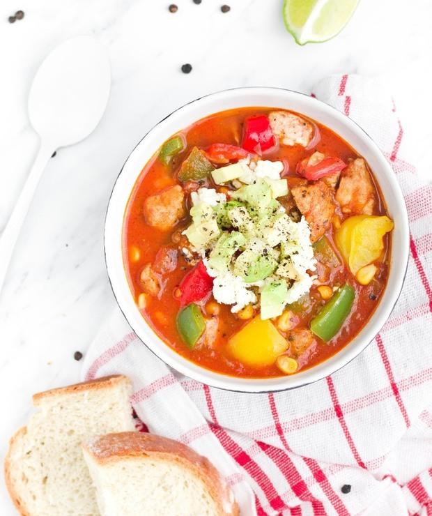Aromatyczna zupa z kurczakiem i warzywami - Z mięsem