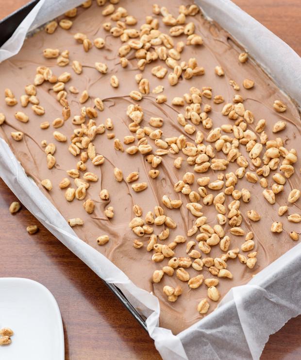 Ciasto kinder country - ciasto bez pieczenia na dużą blachę - Bez pieczenia