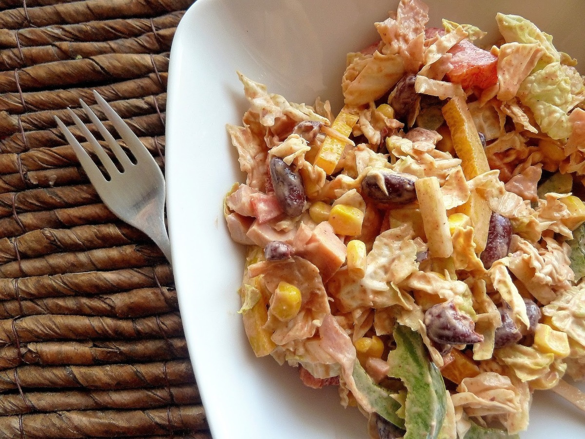 Салат курица копченая с ананасами рецепт с классический