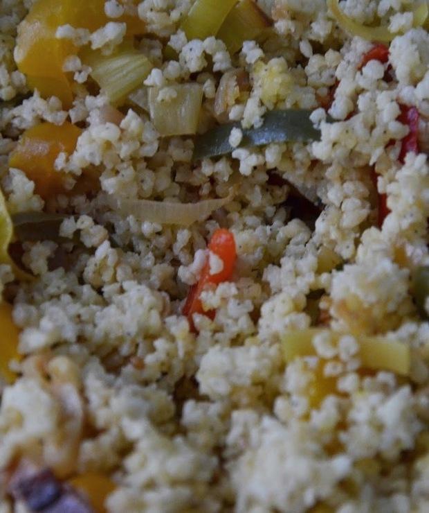 Kasza jaglana z warzywami - Dania z ryżu i kaszy
