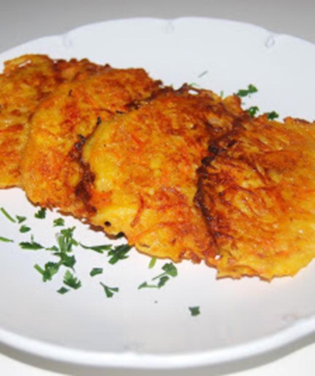 Placki ziemniaczane z marchewką i serem - Warzywa