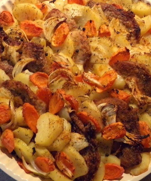 Schab zapiekany z warzywami - Wieprzowina