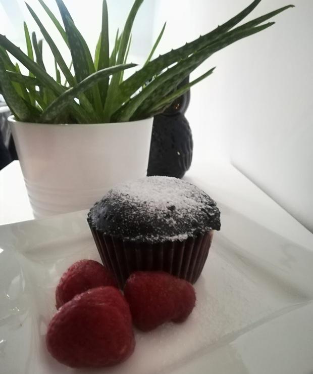 Słodkie muffinki z budyniem.  - Muffiny i babeczki