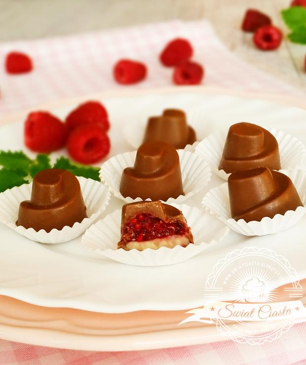 Pralinki z malinami i białą czekoladą - Inne