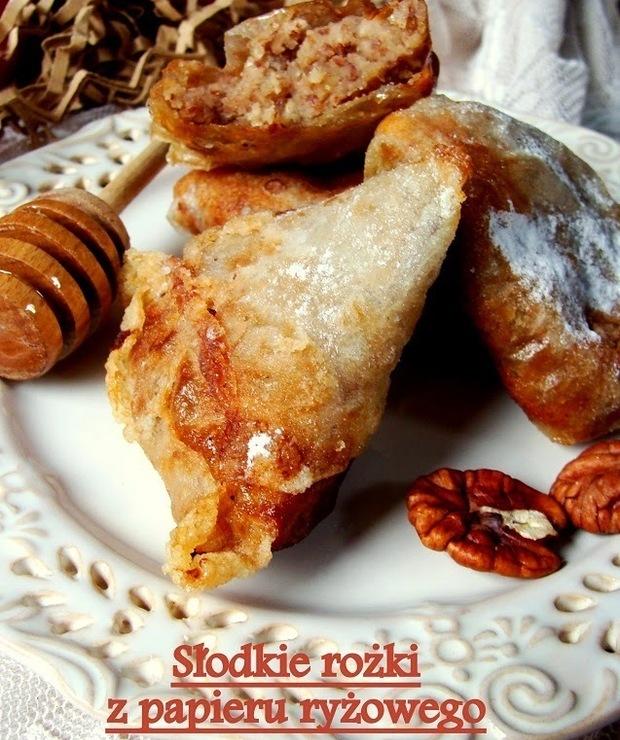 Słodkie rożki z papieru ryżowego - Ciastka