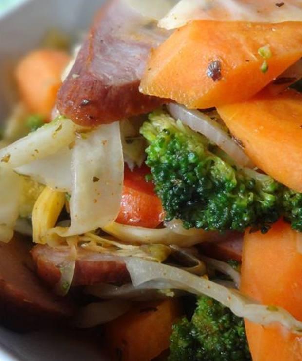 Potrawka z kiełbasą oraz warzywami - Inne