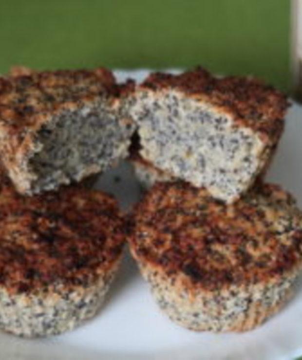 Makowe fit babeczki z komosy ryżowej - Muffiny i babeczki