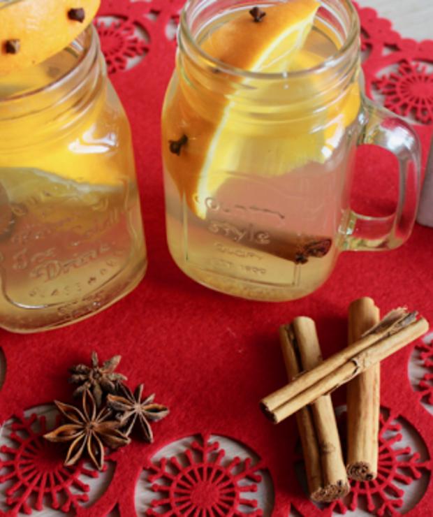 cynamon + goździki + miód + pomarańcza - Zimne