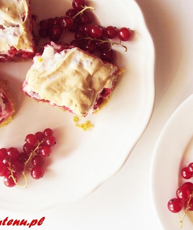 Bezglutenowe kruche ciasto z czerwonymi porzeczkami - Kruche