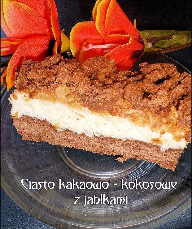 Ciasto kakaowo - kokosowe z jabłkami  - Inne