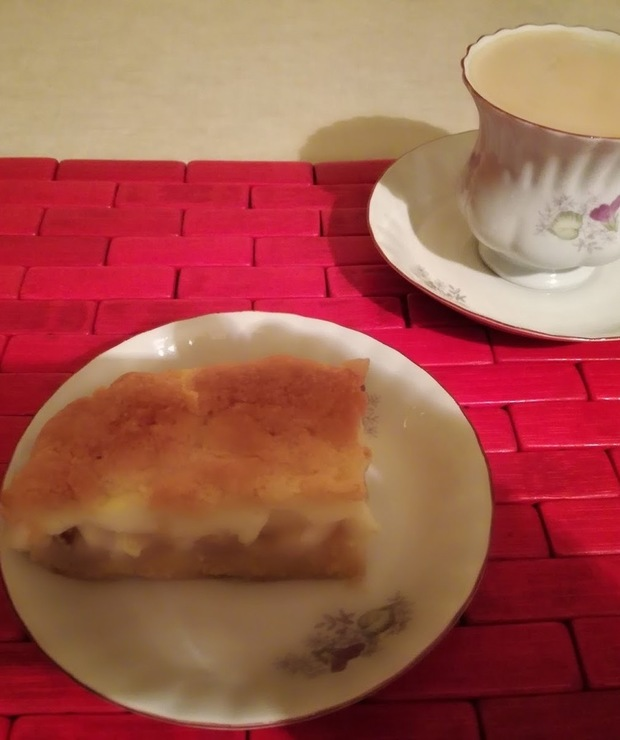 Ciasto szarlotka z budyniem - Kruche