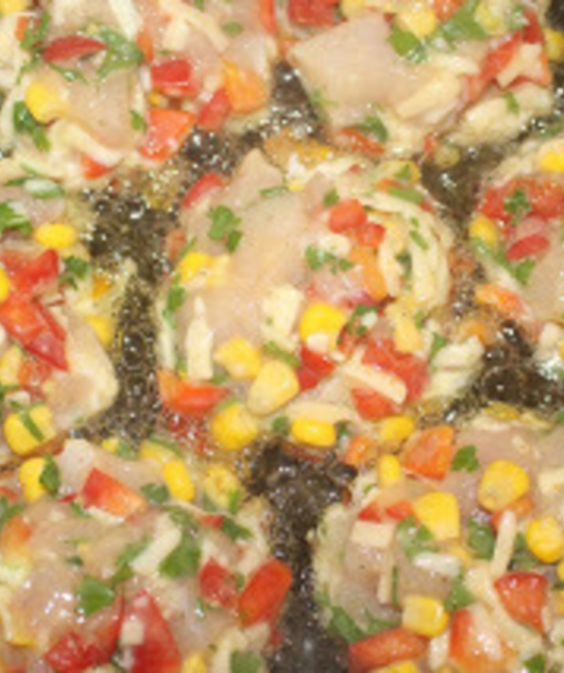 Kolorowe kotleciki z piersi kurczaka - Drób