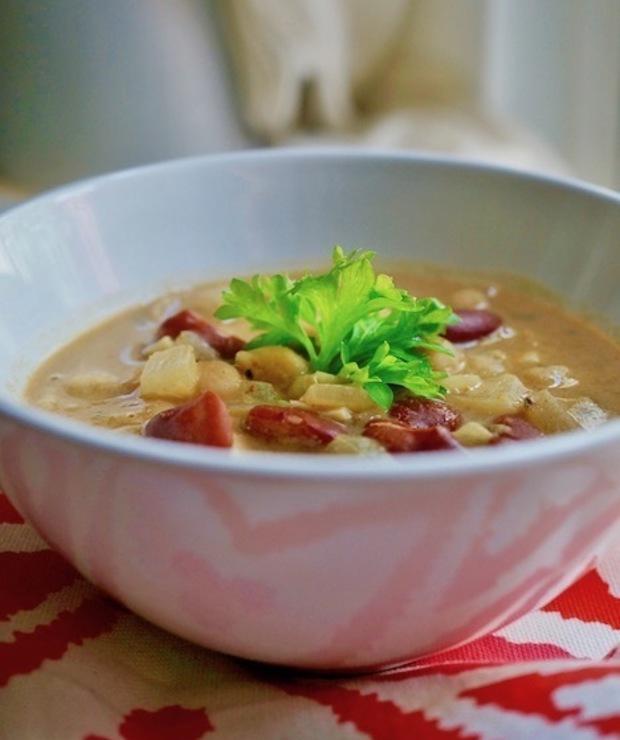 Rozgrzewająca zupa z Masłem Orzechowym Ciecierzycą i Fasolą - Inne