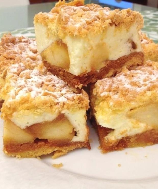 Najlepsze na świecie ciasto z karmelizowanym jabłuszkiem. - Szarlotki