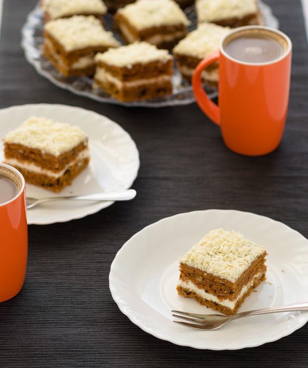 Ciasto marchewkowe z kremem - Ucierane
