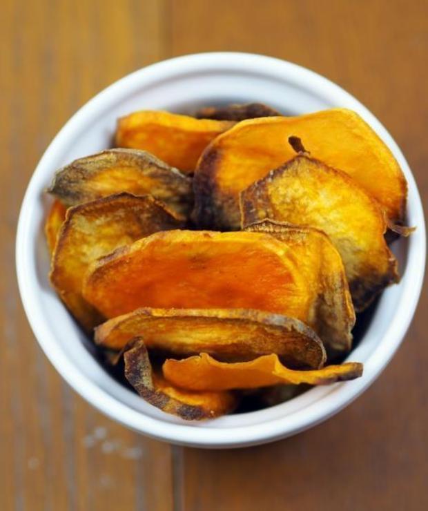 Pieczone chipsy z batatów - Na zimno