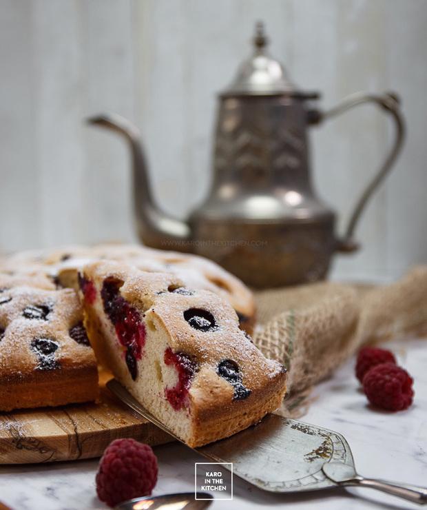 Ucierane ciasto na oleju, z owocami - Ucierane
