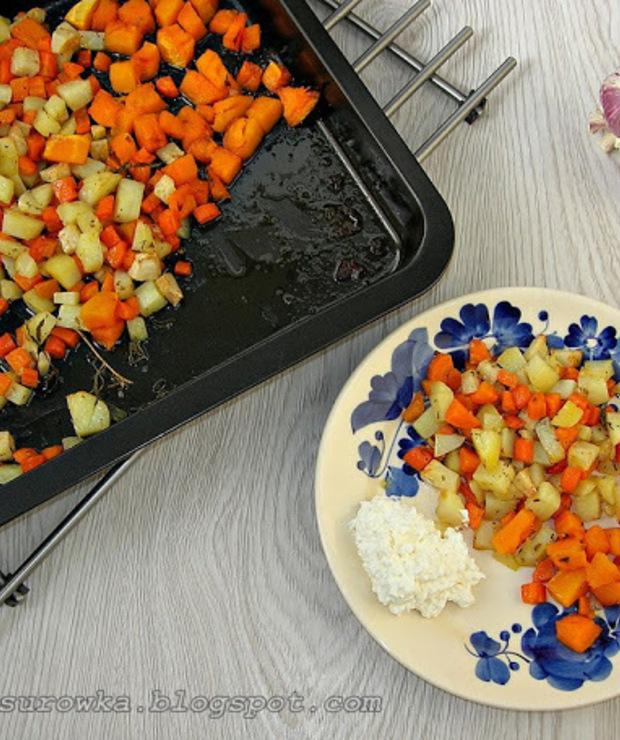 Pieczone warzywa z ziołami - pyszne - Na gorąco