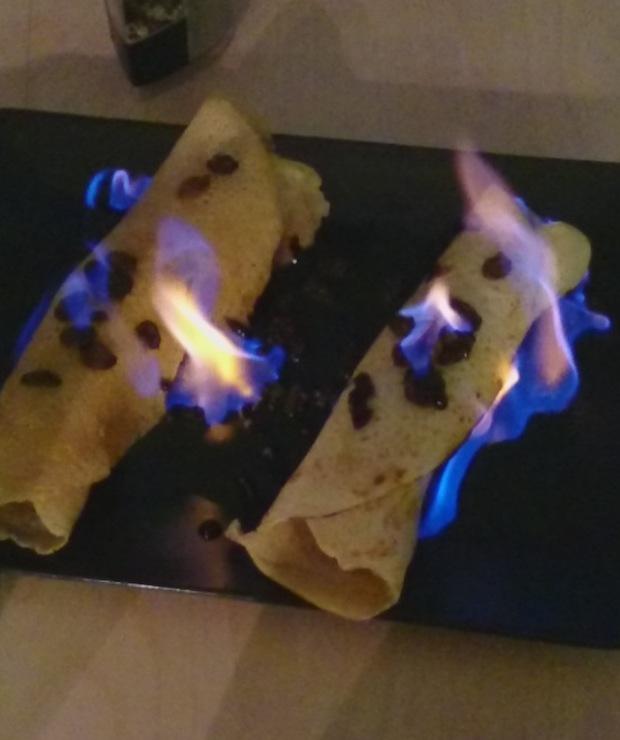 Płonące naleśniki z bananami - Jarskie