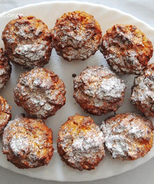 Muffinki dyniowo - marchewkowe z orzechami / Muffins with pumpkin, carrot and walnuts - Muffiny i babeczki