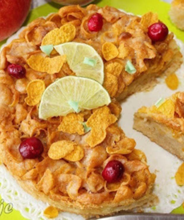 Szarlotka z kukurydzianym wierzchem (i nutą limonki) - Szarlotki