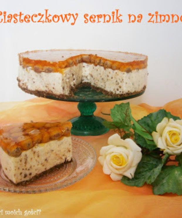 Ciasteczkowy sernik na zimno - Serniki