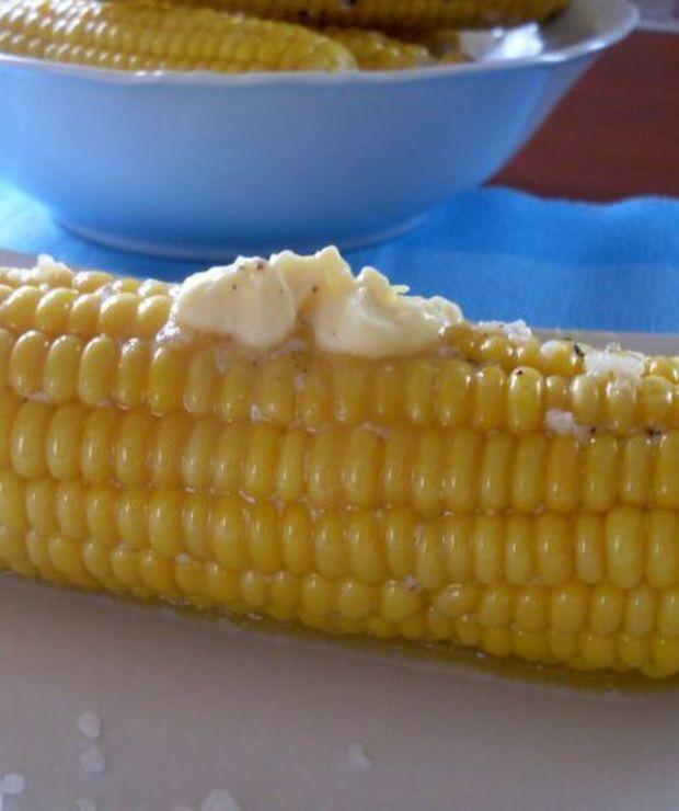 Pieczona kukurydza - Na gorąco