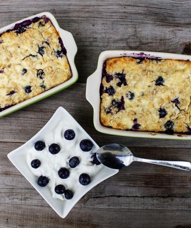 Sernikowa owsianka z jagodami - Desery i ciasta