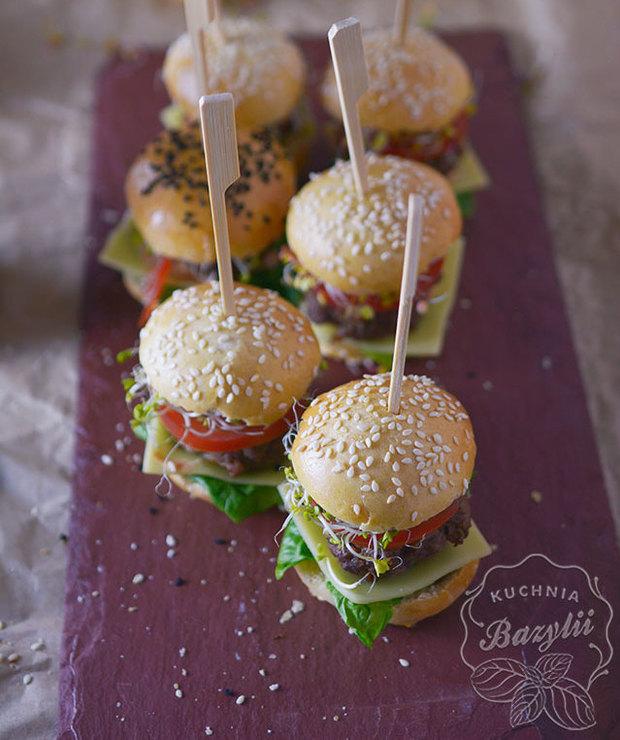Mini burgery koreczki na dwa kęsy - Na zimno